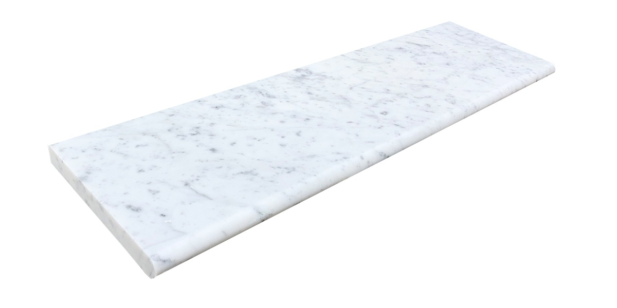 Carrara marble step tread