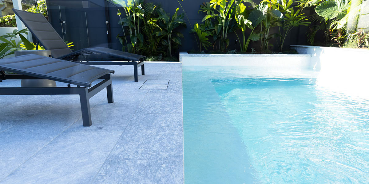 Frostine Marble pool Pavers