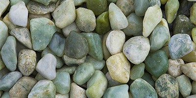 Jade Polished Garden Pebbles