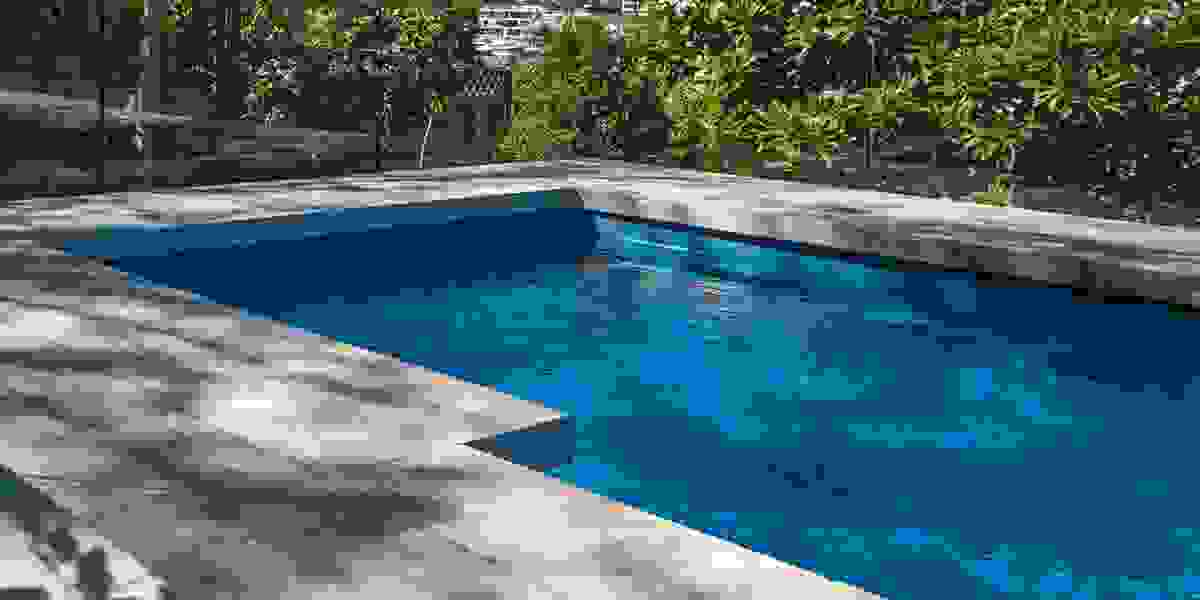 Travertine Drop Edge pool